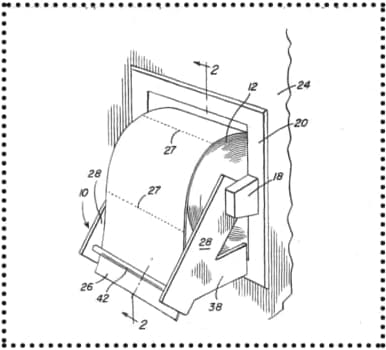 Bathroom Tissue Holder Patent